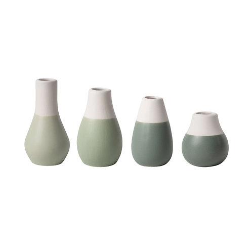 Set de 4 mini vases verts