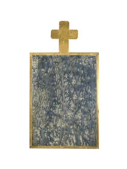 Miroir croix effet vieilli