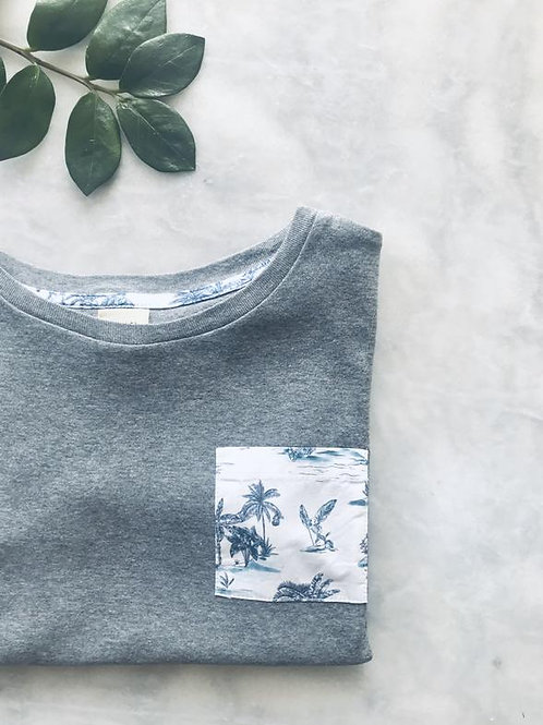 Tee-shirt enfant Loir Paris gris