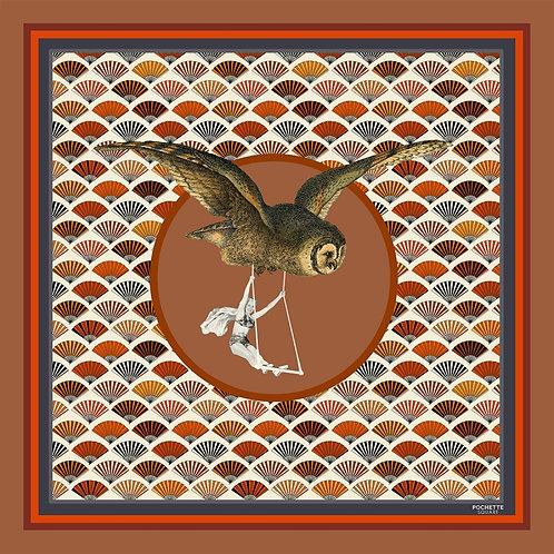 """Foulard en soie """"This is my owl"""""""