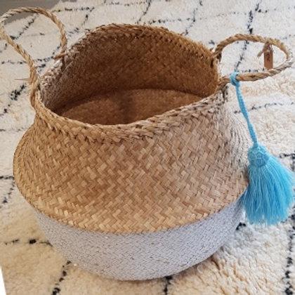 Panier boule + pompon bleu