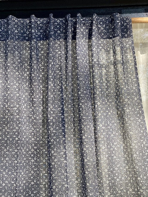 Paire de rideaux en voile de coton MARGE