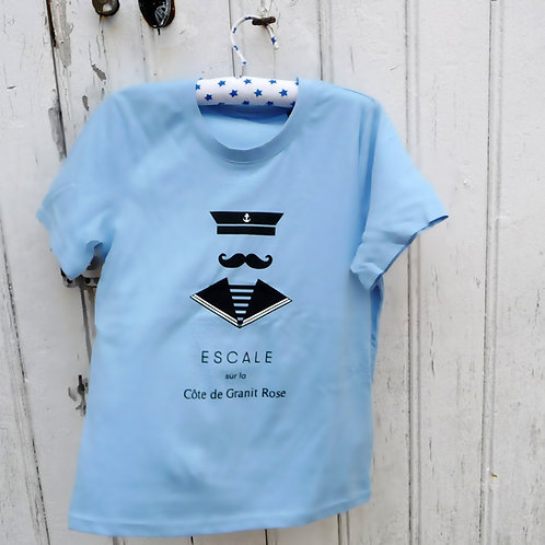 Tee-shirt enfant Seaman bleu ciel