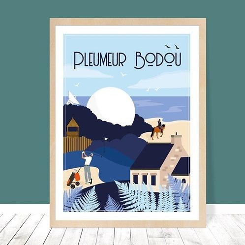 Affiche 30x40 Pleumeur-Bodou