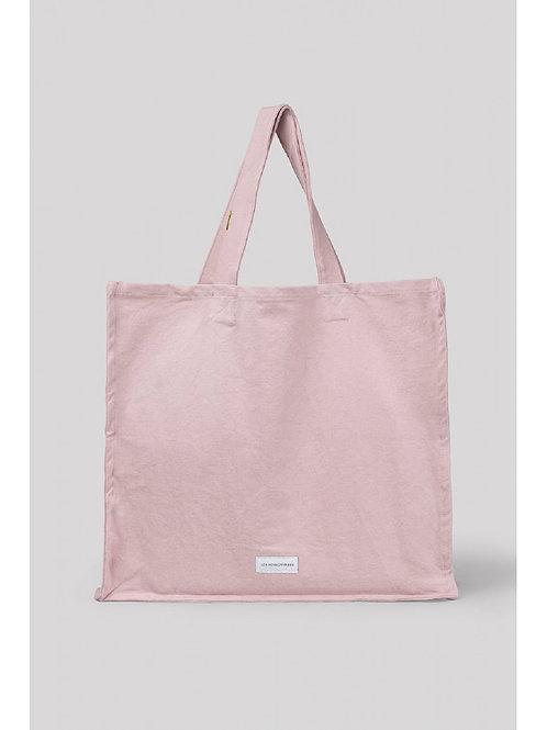 Grand sac cabas en toile de coton bio rose délicat