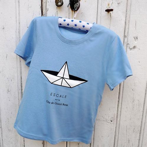 Tee-shirt enfant Paperboat bleu ciel