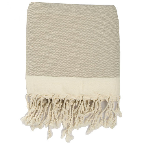 Copie de Plaid FEBRONIE XXL losanges beige