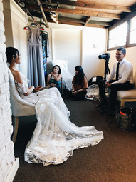 Behind the scenes with the bride