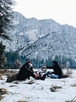 Brewing coffee in Yosemite park