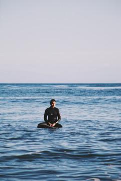 Surfing in Santa Cruz, CA