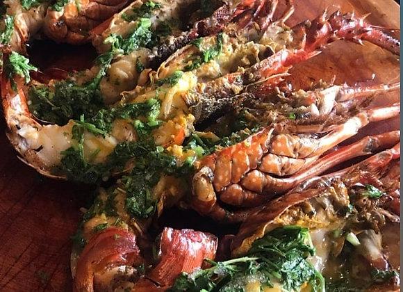 Churrasco com frutos do mar