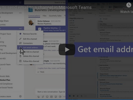 Office 365 Tip - Sending an Email to an Entire Channel in Teams