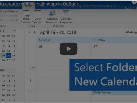 Office 365 Tip - Create Multiple Calendars in Outlook