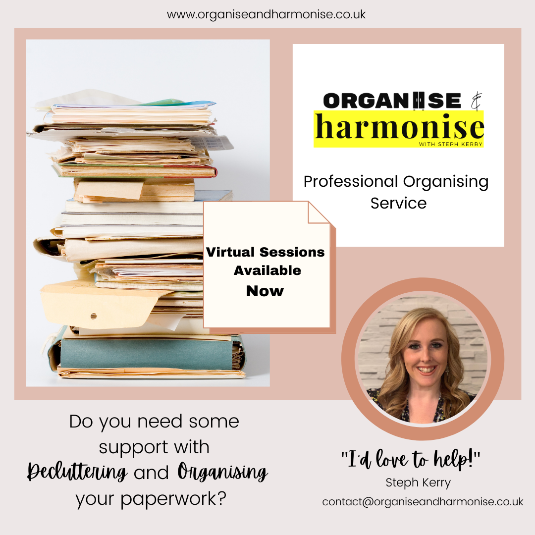 Organising Your Paperwork