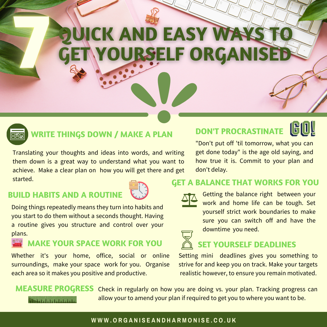 Ways To Get Yourself Organised