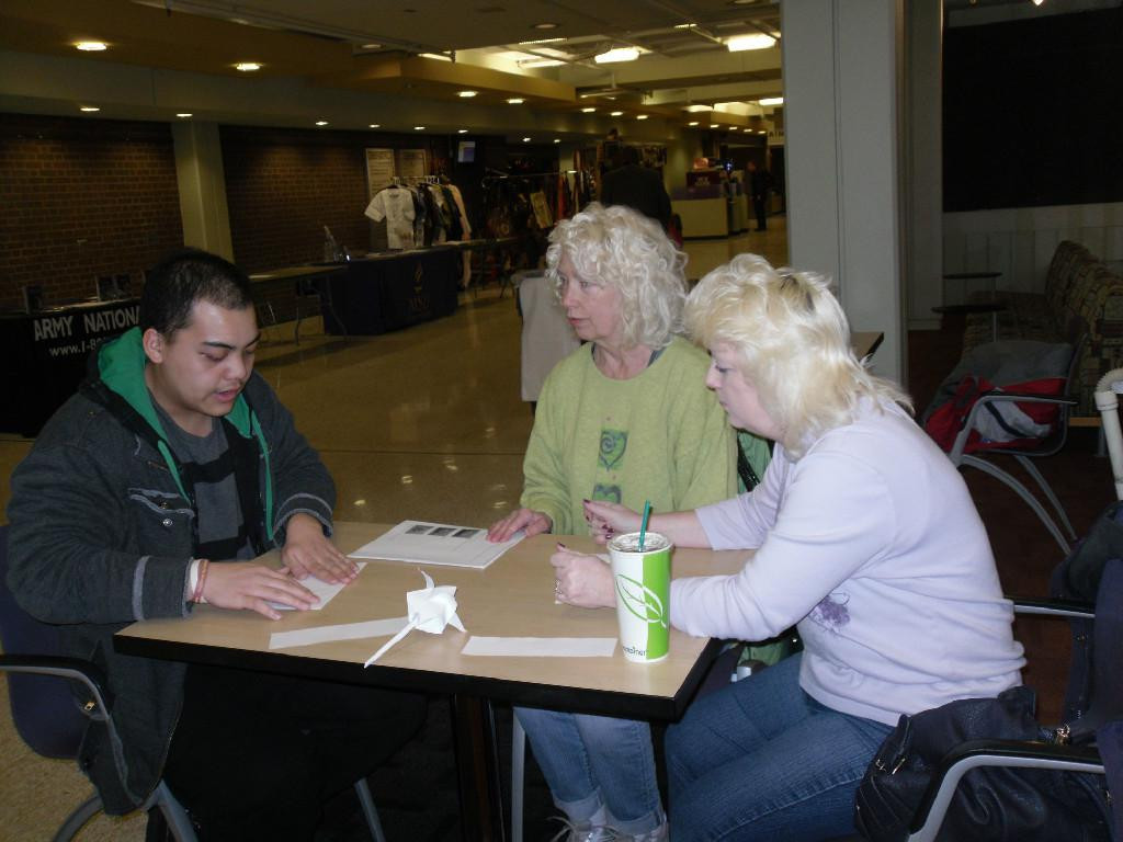 Origami & STEM Project Students & AAUW Mankato