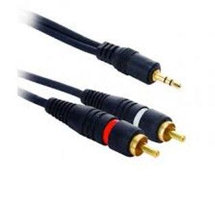 Cable plug 3.5 ST a 2RCA Machos 1.8Mts. Dinon 9180