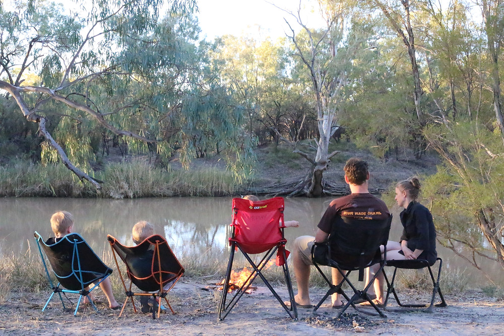 Family time on the Darling River