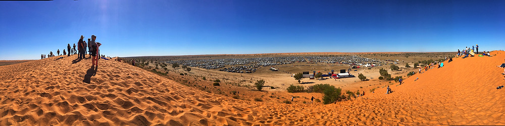 Big Red sand dune at the Big Red Bash 2018