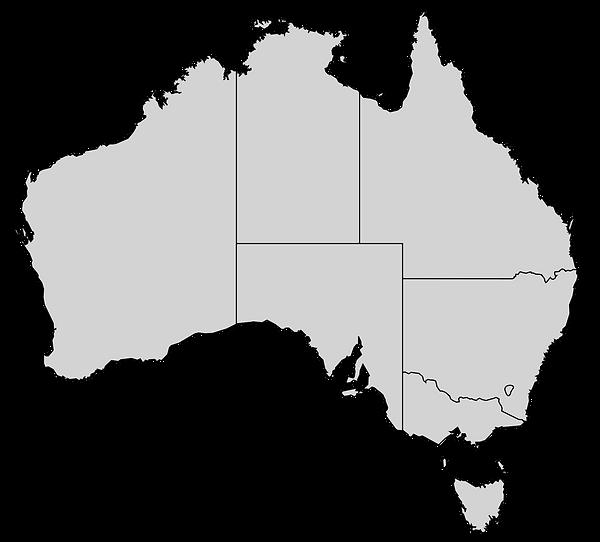 Destinations map of Australia