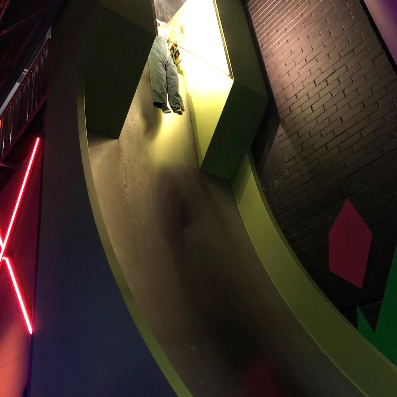 The Giant free fall slide