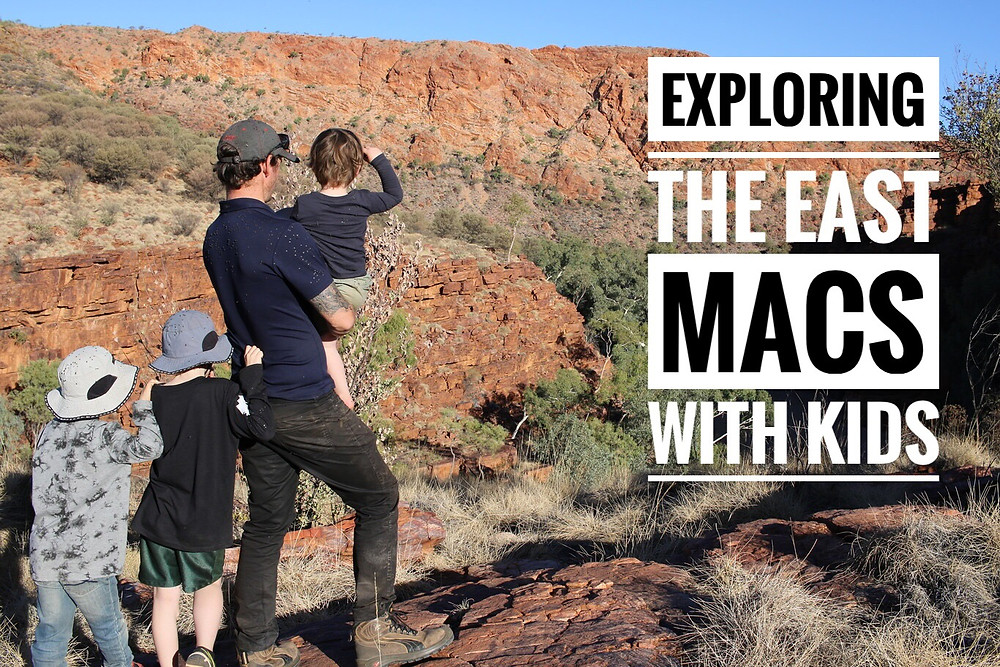 Exploring the East MacDonnell Ranges with kids