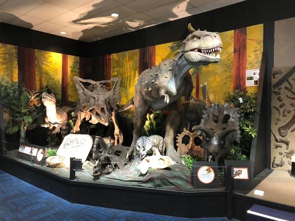 Animatronics controlled dinosaurf
