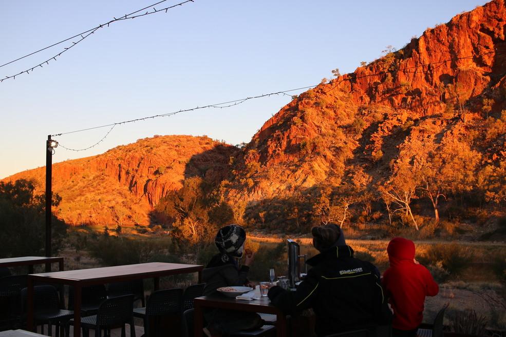 Glen Helen Lodge dinner Sunsets