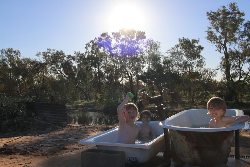 Amazing Outback bore baths