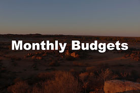 traveling - Monthly Budgets
