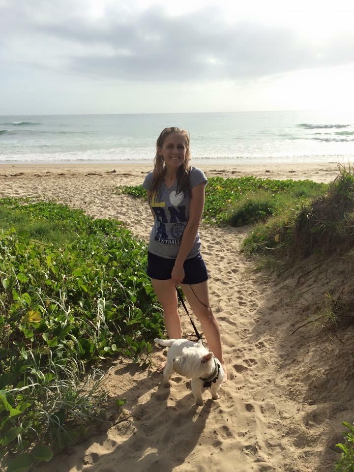 enjoying a nice walk down the beach