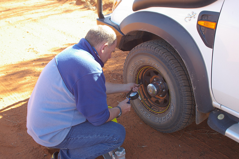 Dropping tyre pressures great central rd