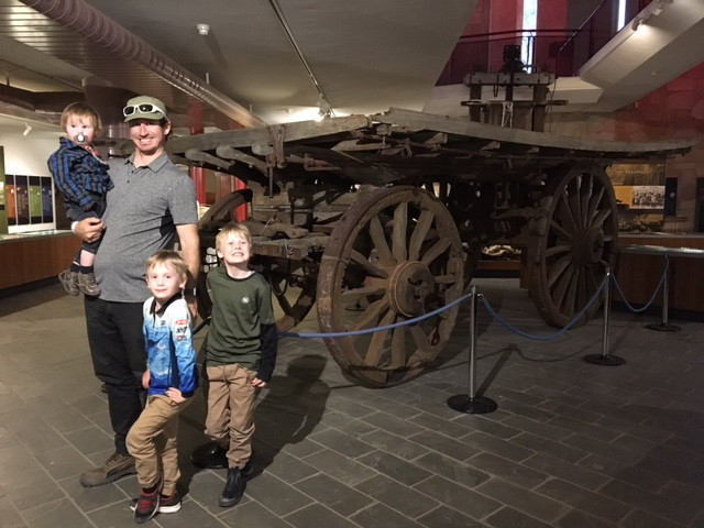 Pioneering horse drawn cart