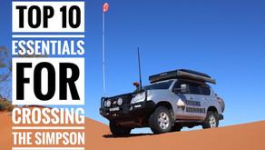 Top 10 essentials for crossing the Simpson Desert