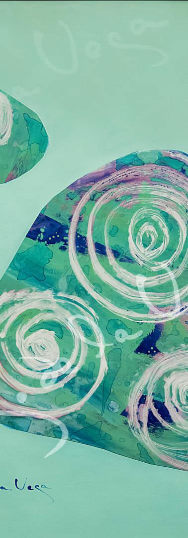 Collage acrilico sobre pvc y papel  Medidas 50x70 cms