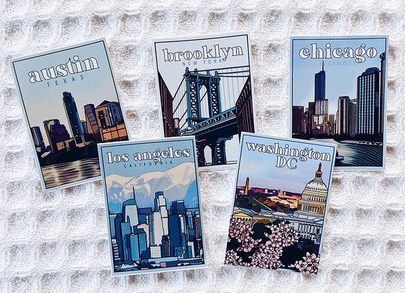 City Series Sticker Set