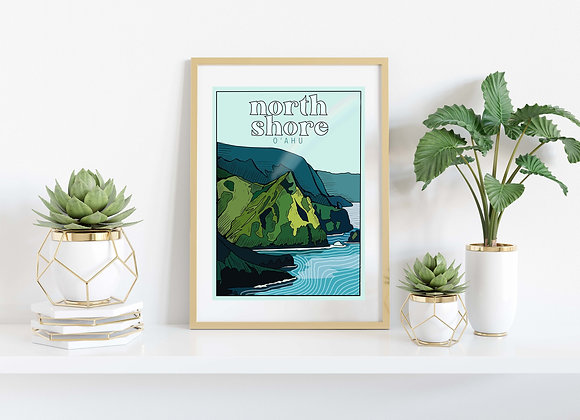 North Shore O'ahu Print