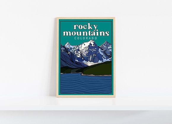 Rocky Mountain Colorado Print