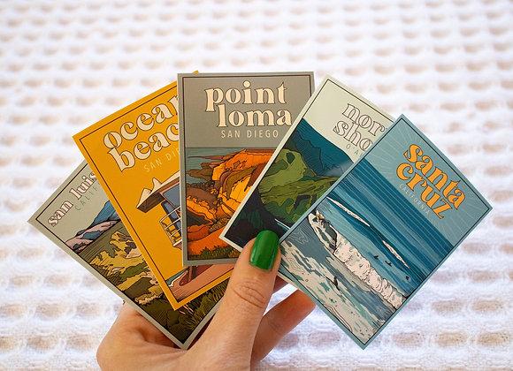 Pacific Ocean Sticker Pack