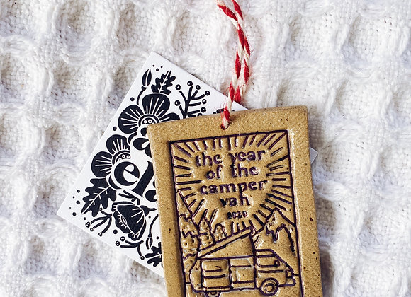 Handmade Christmas Ornament - Year of the Camper Van