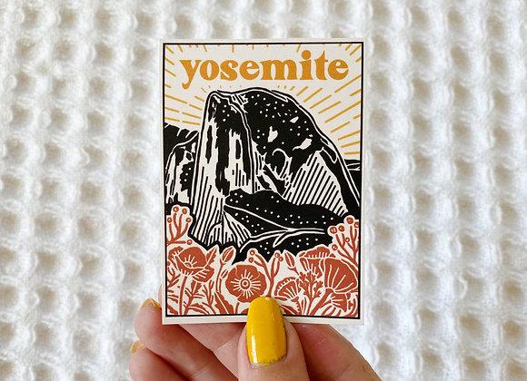 Yosemite Sticker (Linocut Style)