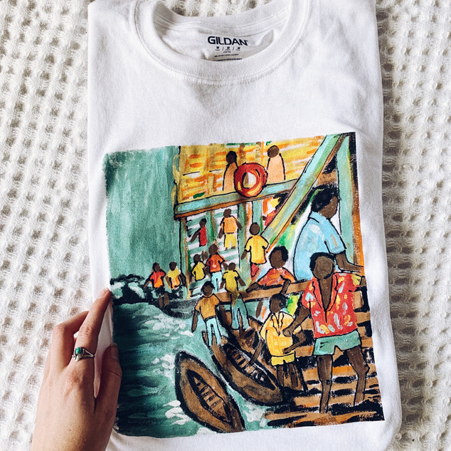 Impressionist Hand Painted Shirt