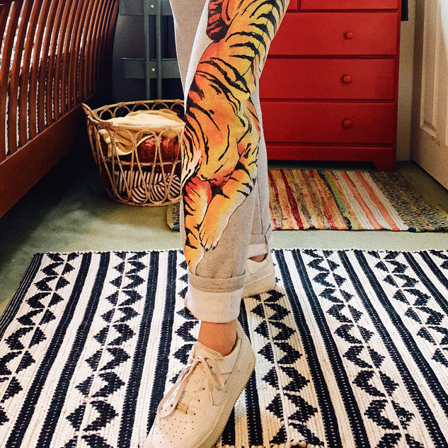 Hand Painted Tiger Sweats