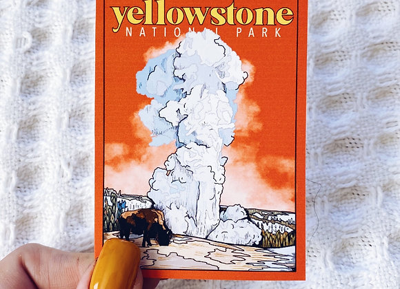 Yellowstone Old Faithful Sticker