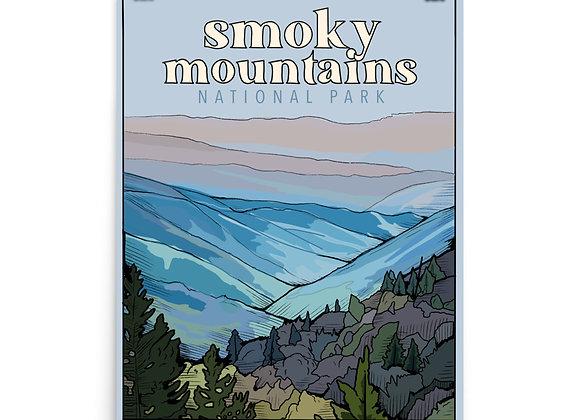 Smoky Mountains National Park Poster