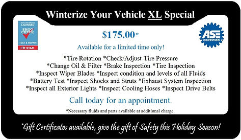 Winterize Your Vehicle XL Special