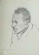 Portrait of Souleymane  Black pencil on sketchbookpaper