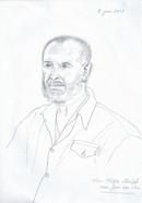 Portrait of Viktor Shestak  Pencil on white printpaper