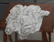 Crumpled cloth on a table  Oil on canvas  June 2019