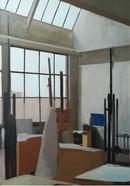 Zicht op het atelier View of the studio  Olieverf op doek Oil on canvas  2014